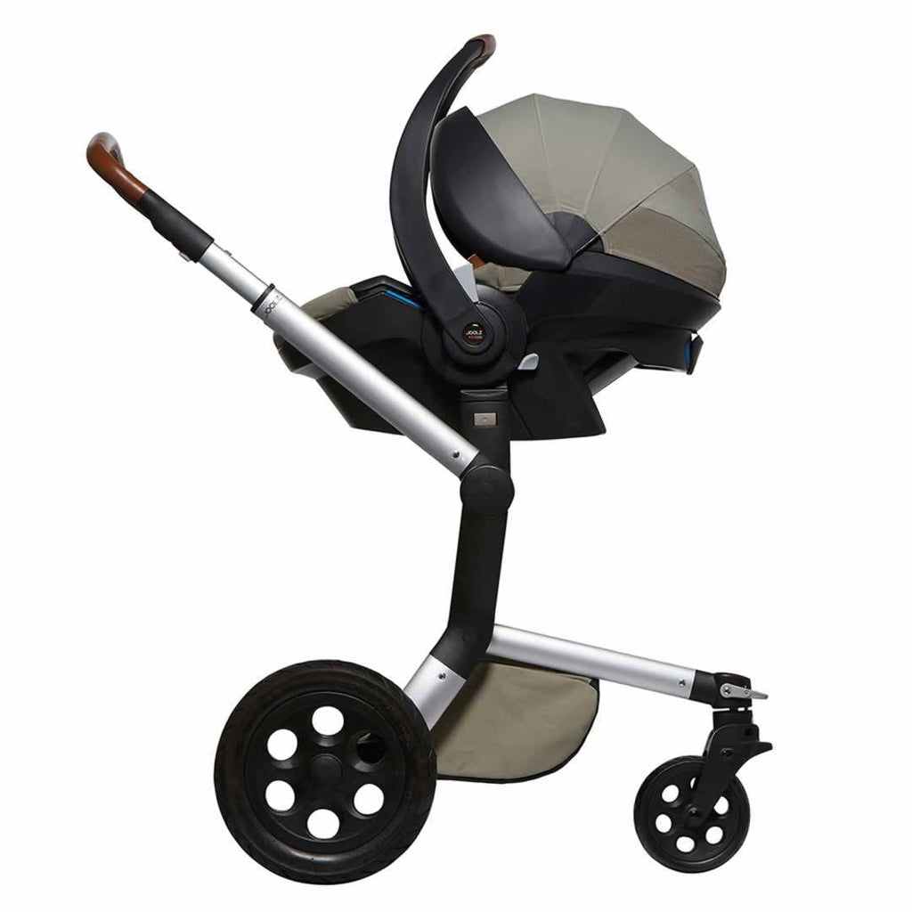 Joolz iZi Go Modular Car Seat by BeSafe with Joolz Day Adapter Parrot Blue on Pushchair