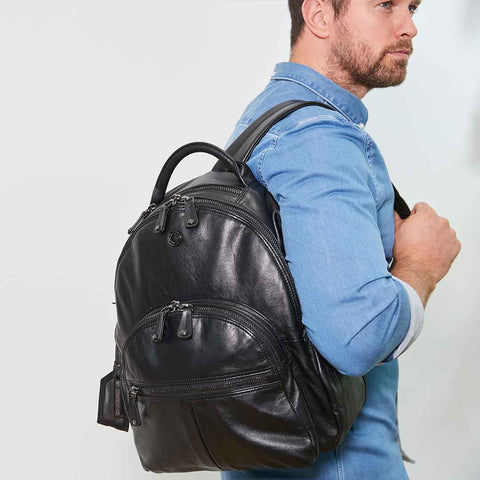 KeriKit Joy XL Leather Backpack - Black 7