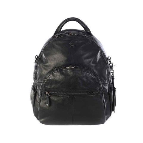 KeriKit Joy XL Leather Backpack - Black