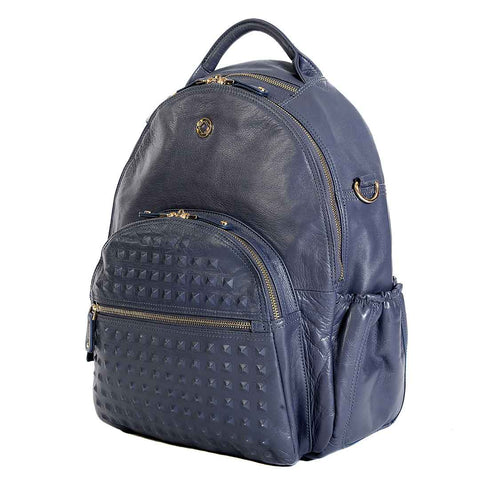 KeriKit Joy XL Leather Backpack - Blue Steel 4