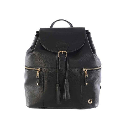 KeriKit Thor Leather Changing Bag - Black