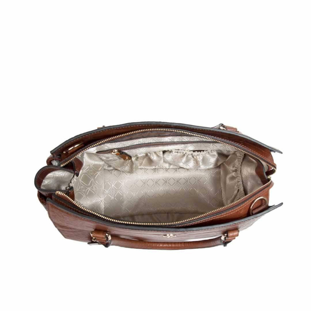 KeriKit Ivy Changing Bag - Cognac Open
