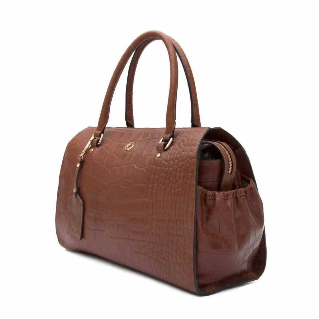 KeriKit Ivy Changing Bag - Cognac Side