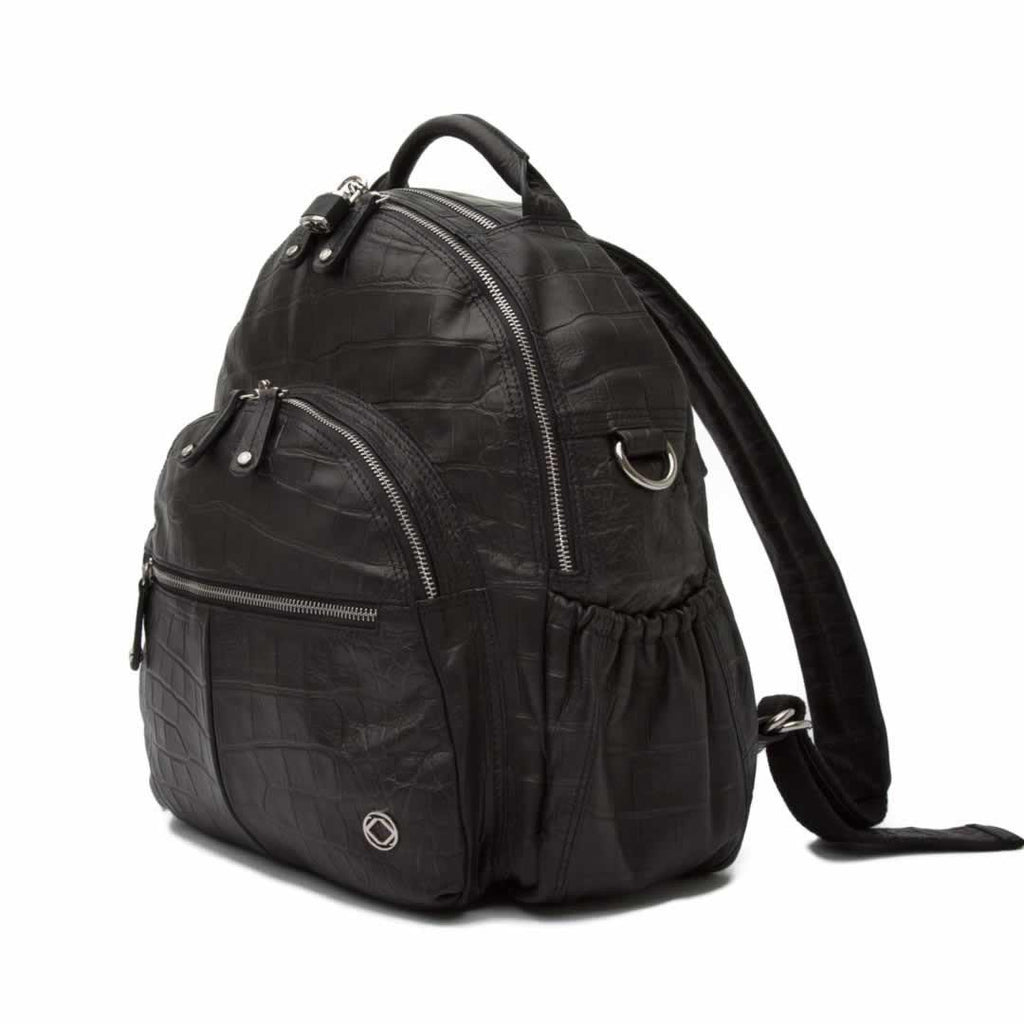 KeriKit Joy Leather Changing Bag - Black Side
