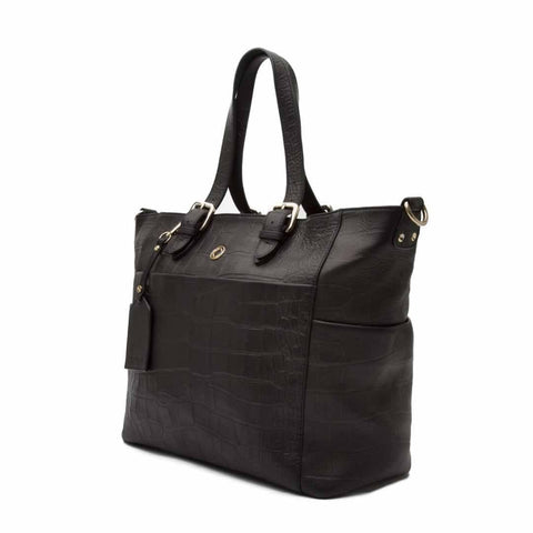 KeriKit Francis Leather Changing Bag - Black-Changing Bags- Natural Baby Shower