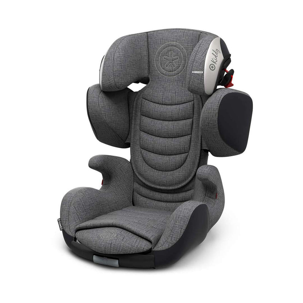 Kiddy Cruiserfix 3 Car Seat - Grey Melange + Icy Grey-Car Seats- Natural Baby Shower