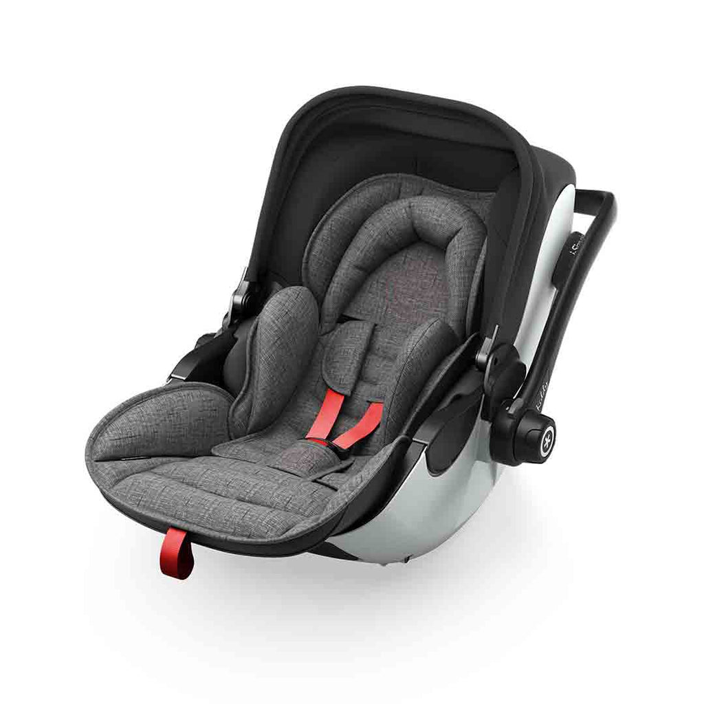 Kiddy Evoluna i-Size 2 Car Seat - Grey Melange + Hot Red