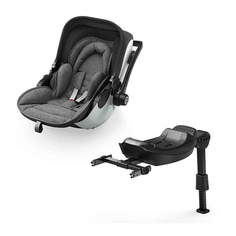 Kiddy Evoluna i-Size 2 Car Seat - Grey Melange + Icy Grey-Car Seats- Natural Baby Shower