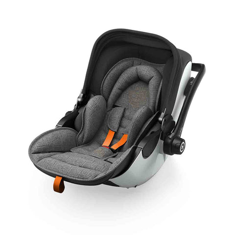 Kiddy Evoluna i-Size 2 Car Seat - Grey Melange + Safe Orange-Car Seats- Natural Baby Shower