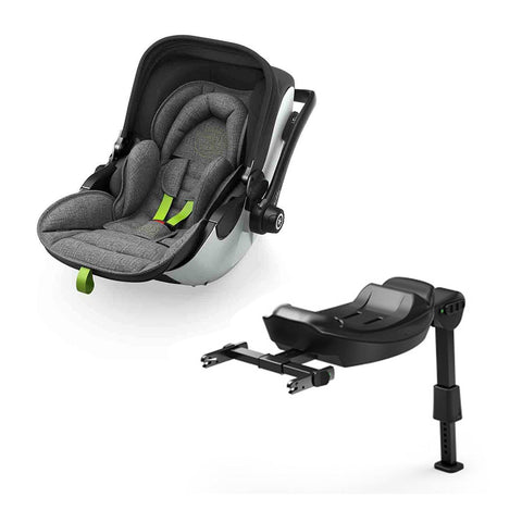 Kiddy Evoluna i-Size 2 Car Seat - Grey Melange + Super Green-Car Seats- Natural Baby Shower