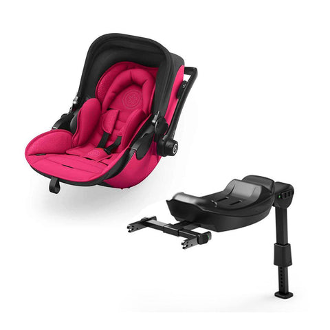 Kiddy Evoluna i-Size 2 Car Seat + Base - Berry Pink-Car Seats- Natural Baby Shower