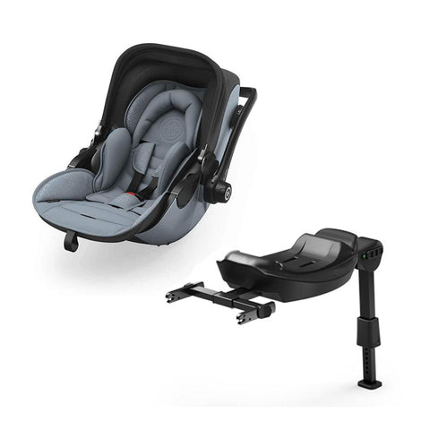 Kiddy Evoluna i-Size 2 Car Seat + Base - Polar Grey-Car Seats- Natural Baby Shower