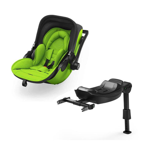 Kiddy Evoluna i-Size 2 Car Seat + Base - Spring Green-Car Seats- Natural Baby Shower