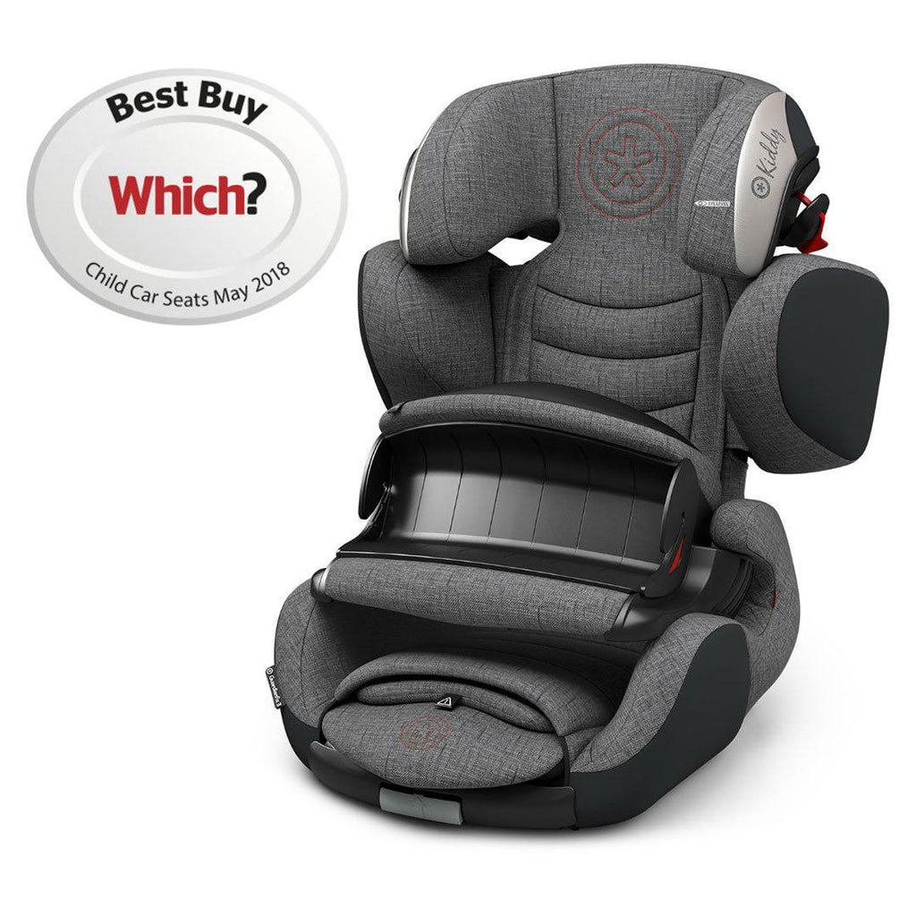 Kiddy Guardianfix 3 Car Seat - Grey Melange + Hot Red-Car Seats- Natural Baby Shower