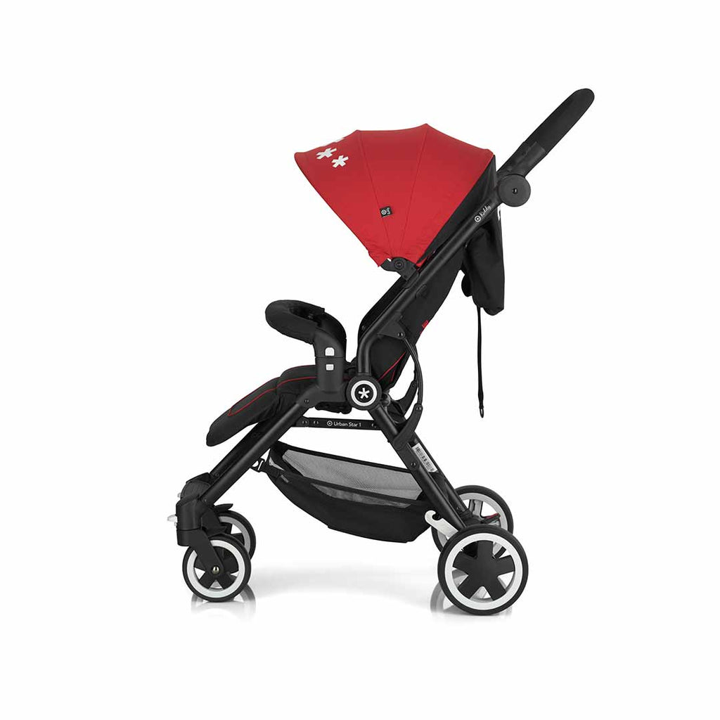 Kiddy Urban Star 1 Pushchair - Chilli Red 6