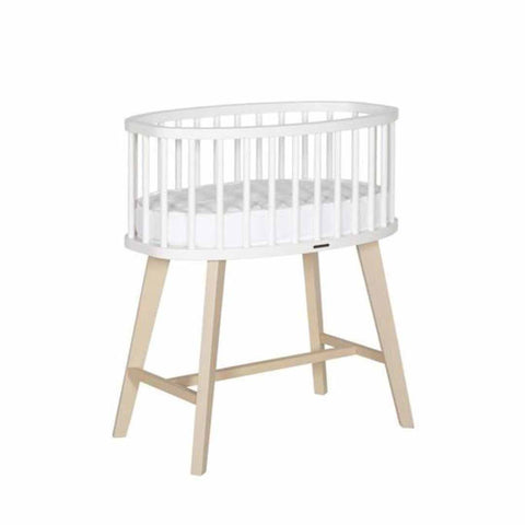 Kidsmill Fynn Crib - White & Natural-Cribs- Natural Baby Shower