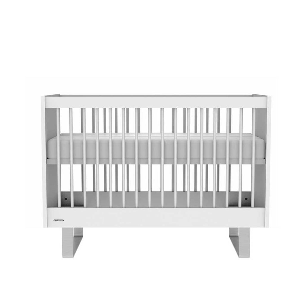 Kidsmill Intense Cot 60 x 120 - White & Stainless Steel-Cot Beds- Natural Baby Shower