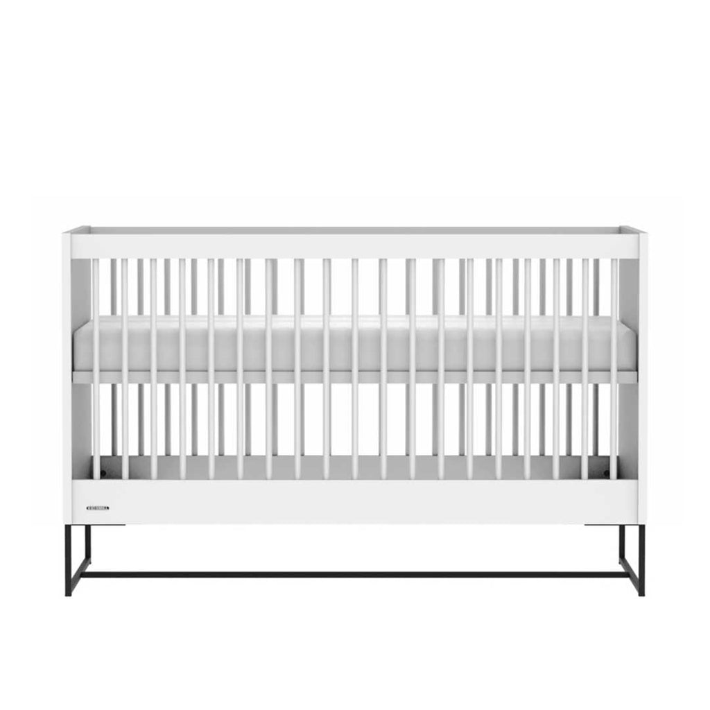 Kidsmill Intense Cot Bed 70 x 140 - White & Black-Cot Beds- Natural Baby Shower