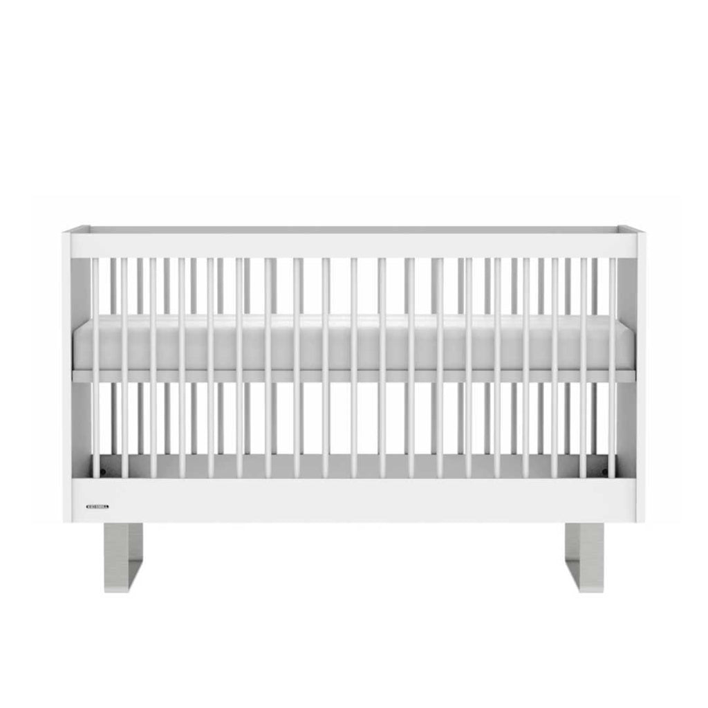 Kidsmill Intense Cot Bed 70 x 140 - White & Stainless Steel