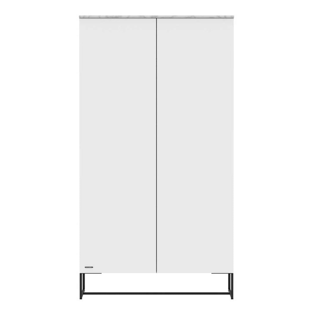 Kidsmill Intense Wardrobe with Marble - White & Black - 2 Doors