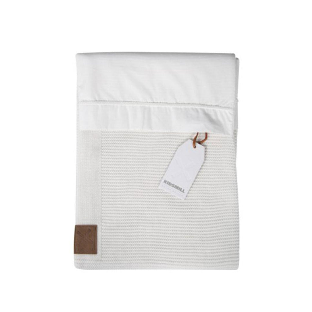 Kidsmill Knitted Bedding 80 x 80 in White