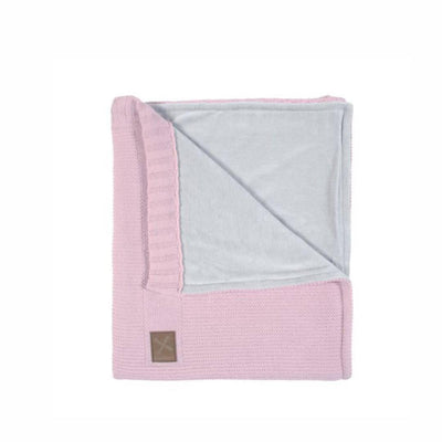 Kidsmill Knitted Cot Blanket - 100 x 135 - Pink-Blankets- Natural Baby Shower