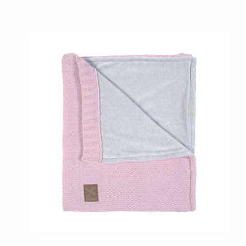 Kidsmill Knitted Cot Blanket - 100 x 135 in Pink