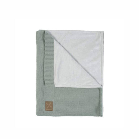 Kidsmill Knitted Cot Blanket - 100 x 135 in Stone Green