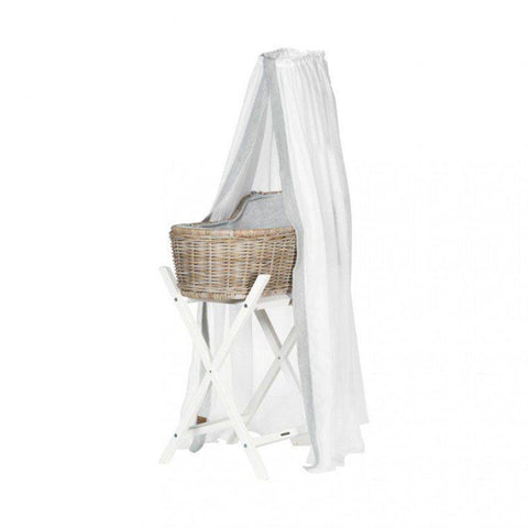 Kidsmill Moses Basket Drape - Grey-Nursery Accessories- Natural Baby Shower