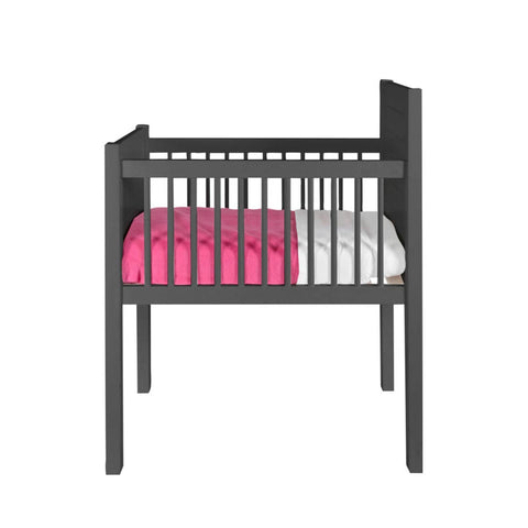 Kidsmill Noa Crib - Anthracite-Cribs- Natural Baby Shower