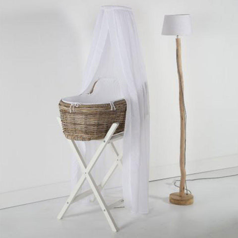 Kidsmill Moses Basket Drape - White-Nursery Accessories- Natural Baby Shower
