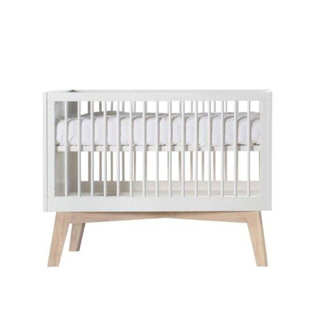 Kidsmill Sixties Cot 60 x 120 - White Matt & Light Oak-Cot Beds- Natural Baby Shower