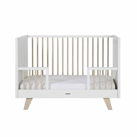 Kidsmill Fynn Cot Bed - 70 x 140 White & Natural