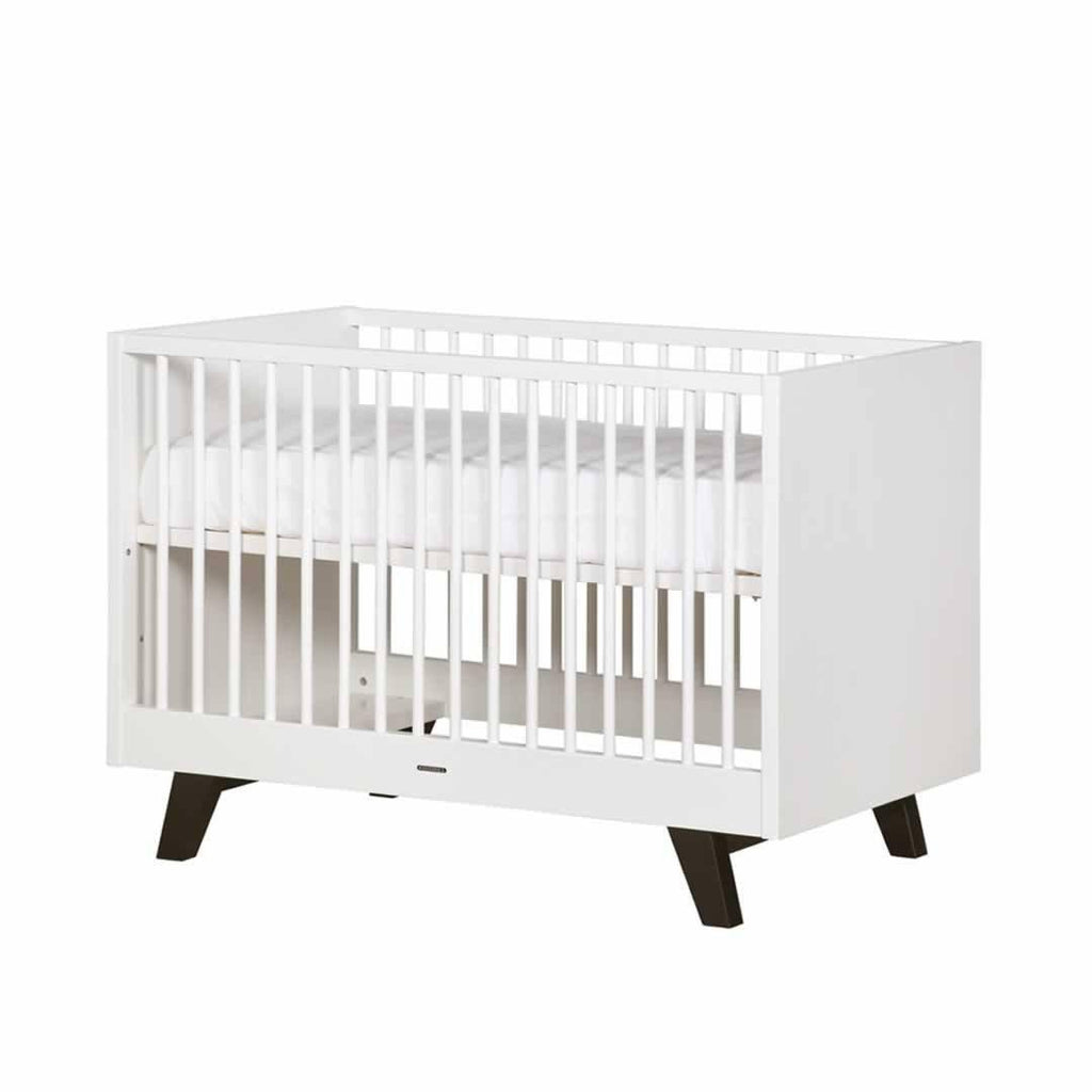 Kidsmill Fynn Cot Bed - 70 x 140 - 	White & Black-Cot Beds- Natural Baby Shower