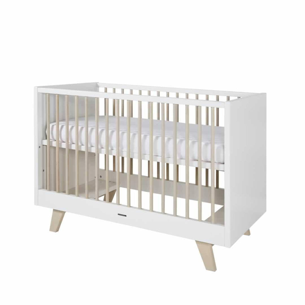 Kidsmill Fynn Cot Bed 70 x 140 White & Natural
