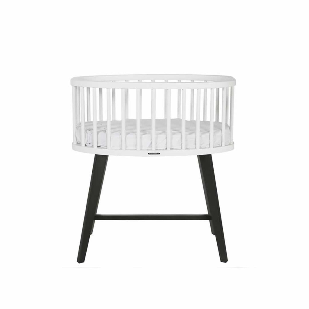 Kidsmill Fynn Crib - White & Black-Cribs- Natural Baby Shower