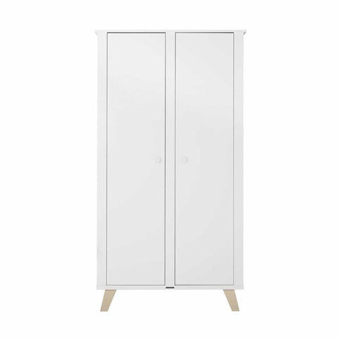 Kidsmill Fynn Wardrobe - White & Natural - Ex-Display-Wardrobes- Natural Baby Shower