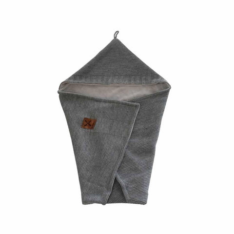 Kidsmill Knitted Bathcape in Anthracite