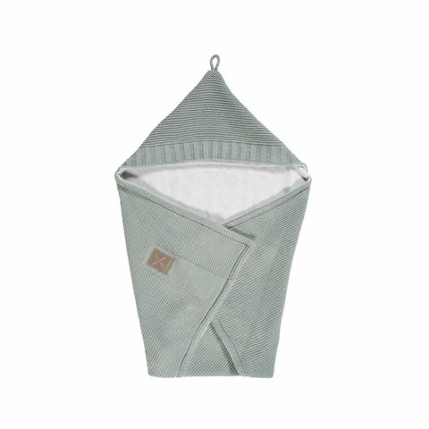Kidsmill Knitted Bathcape in Stone Green