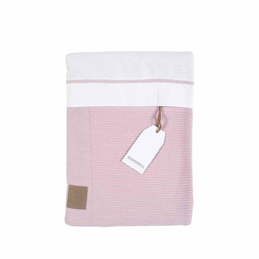 Kidsmill Knitted Bedding 100 x 135 - Pink-Bedding Sets- Natural Baby Shower