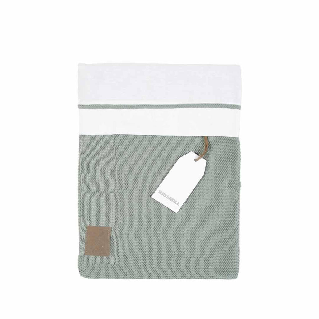 Kidsmill Knitted Bedding 100 x 135 in Stone Green