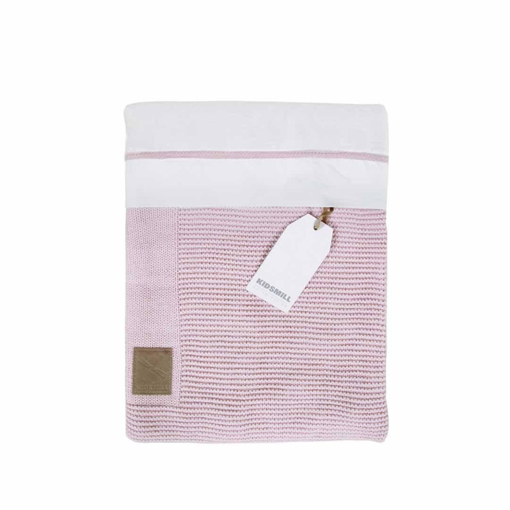 Kidsmill Knitted Bedding 80 x 80 in Pink