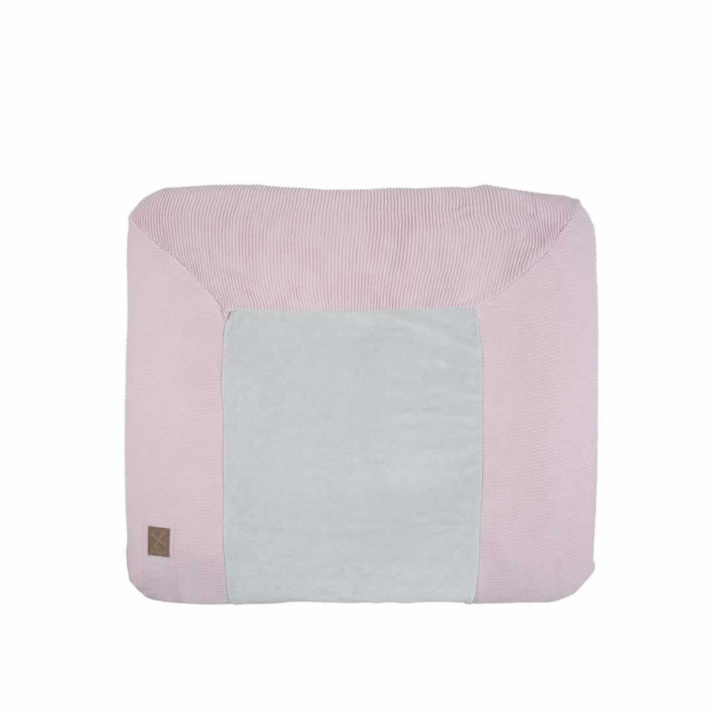 Kidsmill Knitted Changing Mat Cover 80 x 65 - Pink-Changing Mats & Covers- Natural Baby Shower