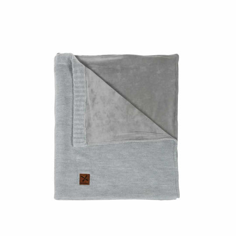Kidsmill Knitted Cot Blanket - 100 x 135 in Grey