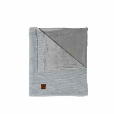 Kidsmill Knitted Crib Blanket - 75 x 90 in Grey