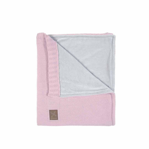 Kidsmill Knitted Crib Blanket - 75 x 90 in Pink