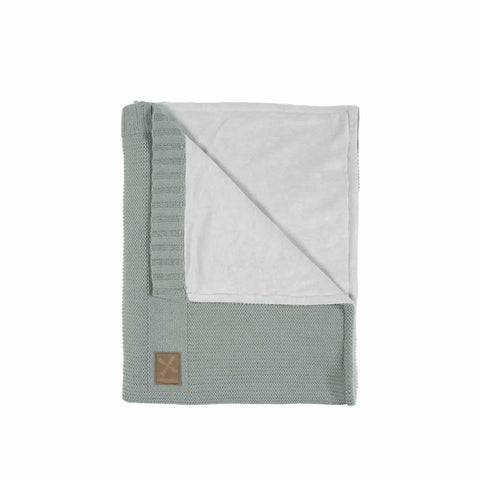Kidsmill Knitted Crib Blanket - 75 x 90 in Stone Green