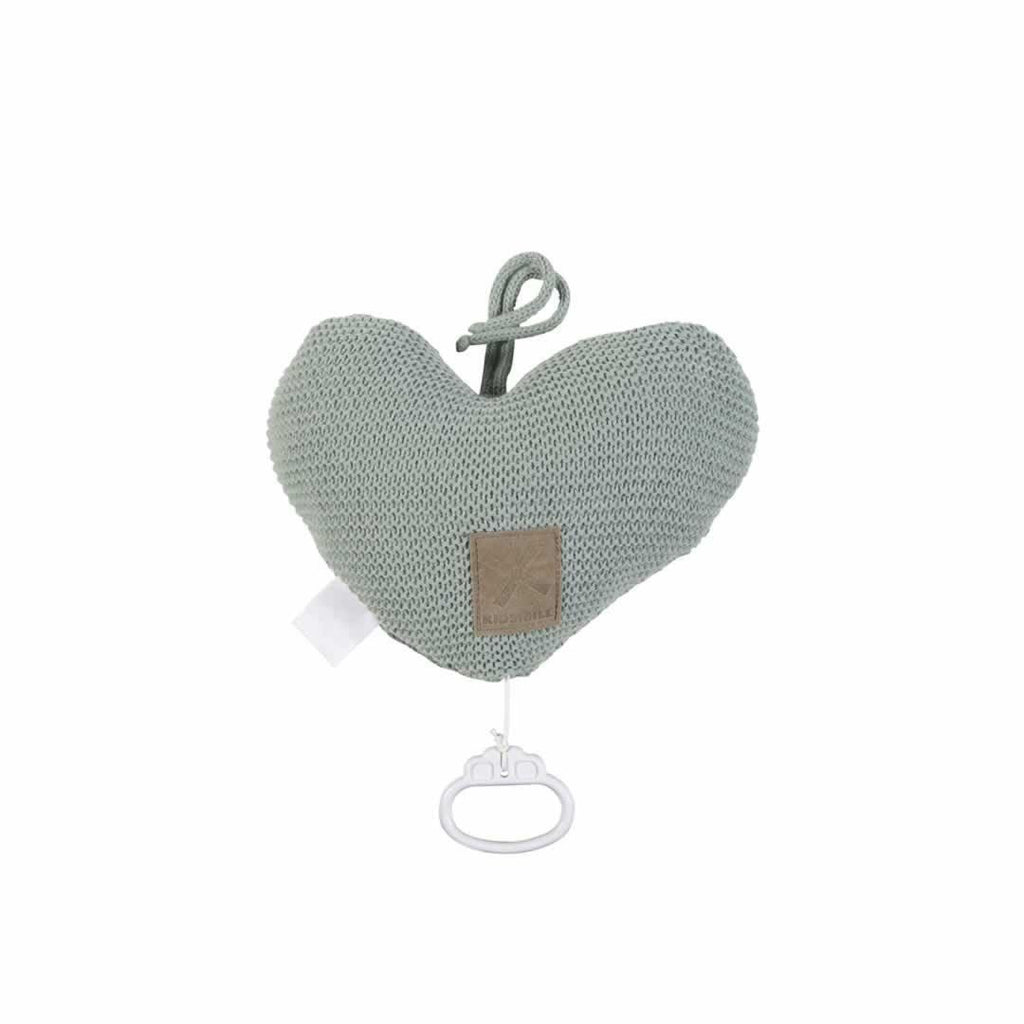 Kidsmill Knitted Music Box - Stone Green-Baby Mobiles- Natural Baby Shower
