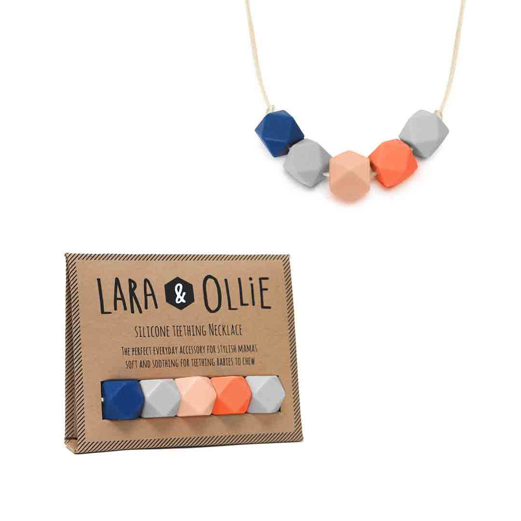 Lara & Ollie Georgia Teething Necklace - Cream Cord-Jewellery-Georgia- Natural Baby Shower