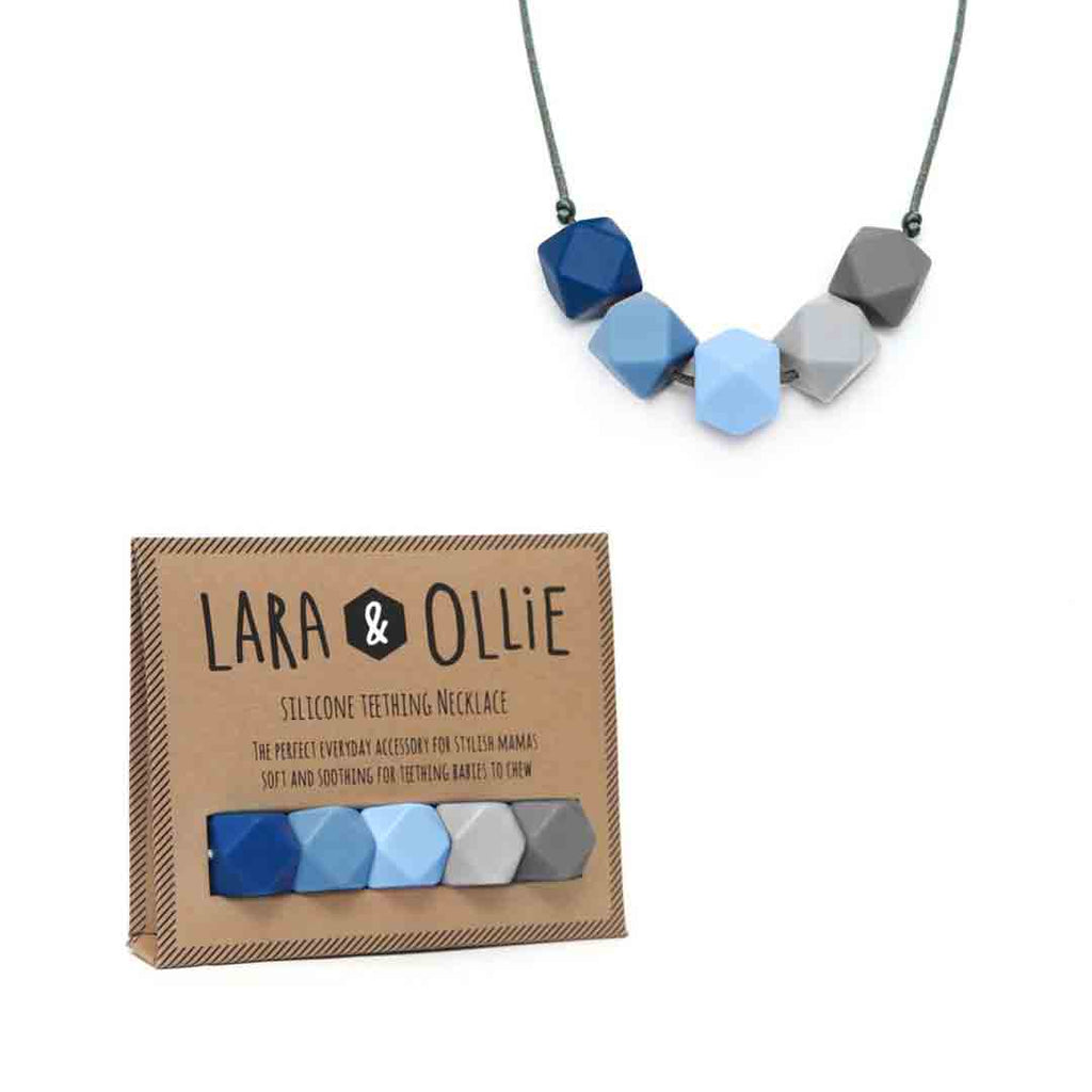 Lara & Ollie Kate Teething Necklace - Grey Cord-Jewellery-Kate- Natural Baby Shower